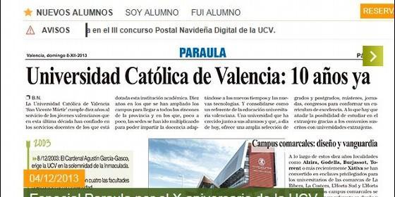 La universidad Católica cumple 10 años - residencia de estudiantes en Valencia -
