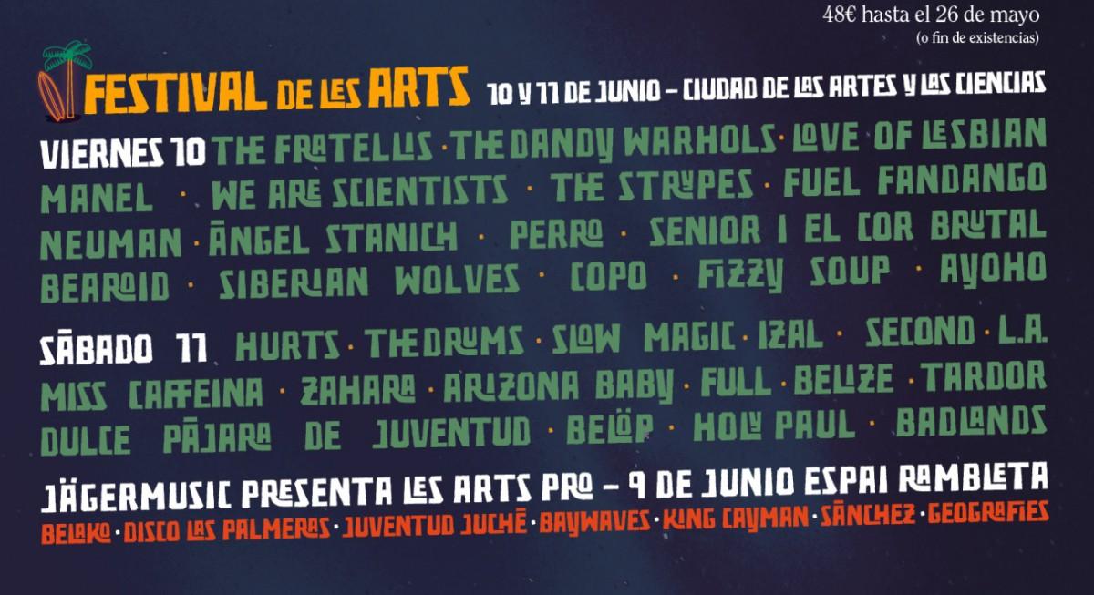 El Festival de les Arts cierra cartel y calienta motores con el Circuit de les Arts