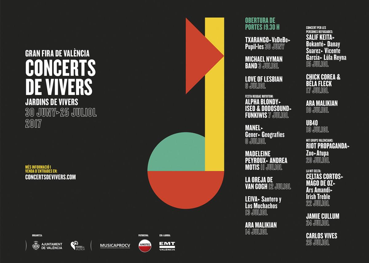 Conciertos de Viveros 2017