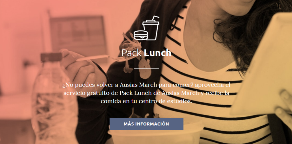 Servicio pack lunch colegio mayor ausias march
